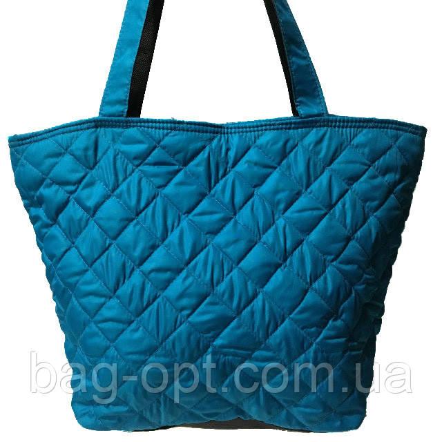 Женская бренд сумка голубая  ( 34x30 см) большая