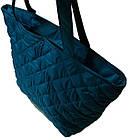 Женская бренд сумка голубая  ( 34x30 см) большая, фото 3