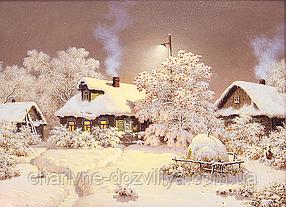"""Набор алмазной вышивки (мозаики) пейзаж """"Тихий зимний вечер"""""""