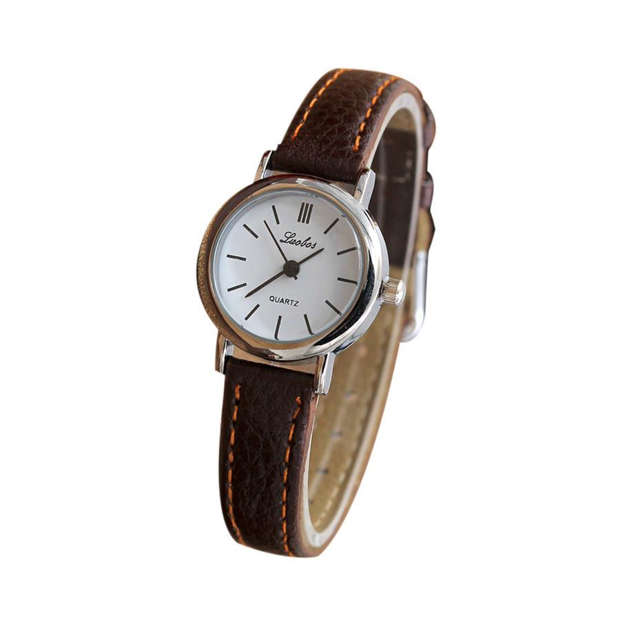 Женские наручные часы luobos 34166 | С коричневым ремешком