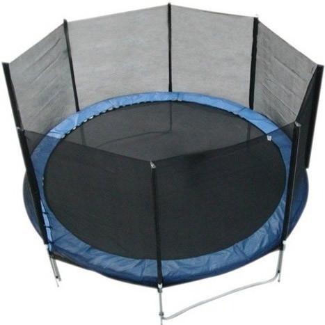 Батут FunFit 465 см для детей и взрослых с защитной сеткой и лестницей (батут для дорослих та дітей з сіткою)