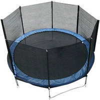 Батут FunFit 465 см для детей и взрослых с защитной сеткой и лестницей (батут для дорослих та дітей з сіткою), фото 1
