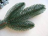 Ветвь еловая зеленая (литая) 55 грн - 10 шт, 475 грн - 100 шт., фото 2