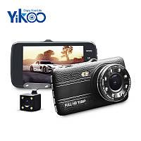 """Автомобильный Видеорегистратор DV 430 4"""" Full HD WDR на 2 камеры, фото 1"""