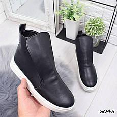 """Ботинки, ботильоны черные ЗИМА """"Jill"""" НАТУРАЛЬНАЯ КОЖА, повседневная, теплая, зимняя женская обувь, фото 2"""
