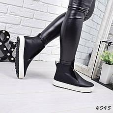 """Ботинки, ботильоны черные ЗИМА """"Jill"""" НАТУРАЛЬНАЯ КОЖА, повседневная, теплая, зимняя женская обувь, фото 3"""