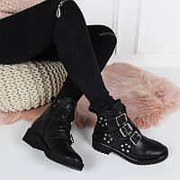 Ботинки  джо джо зима три ремешка  натуральна кожа код  22131, фото 1