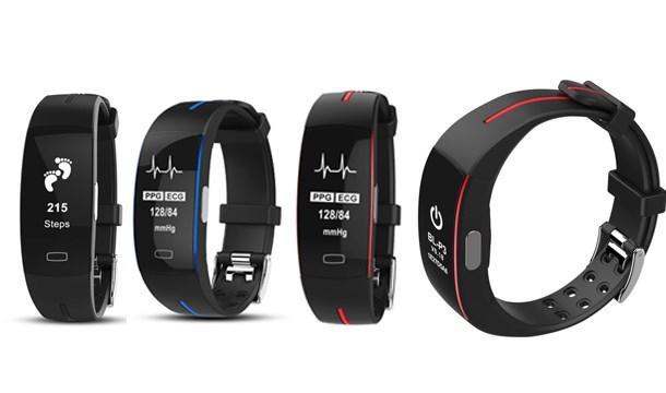 Смарт браслет с датчиком ЭКГ и тонометром P3 давление крови шагомер датчик сна