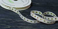 Декоративная лента 1 см  *90 см золотистая с люрексом, фото 1