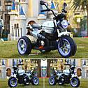 Детский электромобиль Мотоцикл BMW_BQ, 3-х колесный, Кожаное сиденье, Резиновые колеса, дитячий електромобіль, фото 5