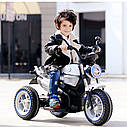 Детский электромобиль Мотоцикл BMW_BQ, 3-х колесный, Кожаное сиденье, Резиновые колеса, дитячий електромобіль, фото 9