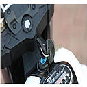 Детский электромобиль Мотоцикл BMW_BQ, 3-х колесный, Кожаное сиденье, Резиновые колеса, дитячий електромобіль, фото 7