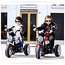 Детский электромобиль Мотоцикл BMW_BQ, 3-х колесный, Кожаное сиденье, Резиновые колеса, дитячий електромобіль, фото 10