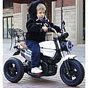 Детский электромобиль Мотоцикл BMW_BQ, 3-х колесный, Кожаное сиденье, Резиновые колеса, дитячий електромобіль, фото 8