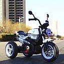Детский электромобиль Мотоцикл BMW_BQ, 3-х колесный, Кожаное сиденье, Резиновые колеса, дитячий електромобіль, фото 2