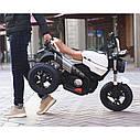 Детский электромобиль Мотоцикл BMW_BQ, 3-х колесный, Кожаное сиденье, Резиновые колеса, дитячий електромобіль, фото 6