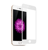 Защитное стекло 3D Full Cover для IPhone 6 / 6s White (Screen Protector 0,3 мм)