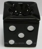 Подарок мужчине на 23 февраля — Пепельница игральная кость с крышкой, пепельница Dice