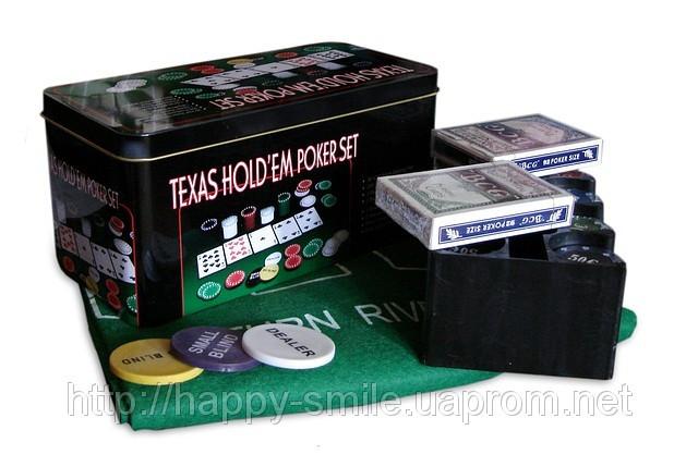 Покерный набор на 200 фишек — Техасский холдем - Оптовый-магазин Технолекс. Ниже цен не было и нет! в Одессе