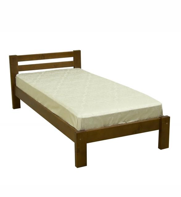 Ліжко односпальне в спальню та дитячу з натурального дерева Л-107 Скіф