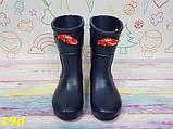 Детские резиновые сапоги непромокаемые на непогоду слякоть темно-синие К19d, фото 3