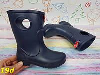 Детские резиновые сапоги непромокаемые на непогоду слякоть темно-синие, фото 1