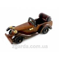 Деревянная ретро машинка в коричневом цвете