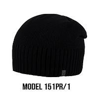 Мужская шапка Ozzi, шапка на флисе 151 черный, фото 1