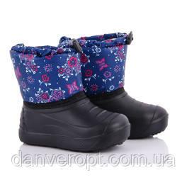 Сапоги детские зимние модные с цветочным принтом на девочку размеры 28-35 купить оптом со склада 7км Одесса