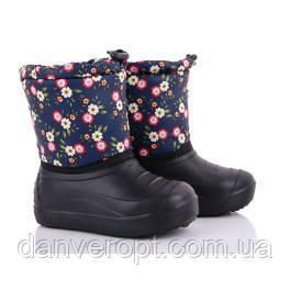 Сапоги детские зимние стильные с цветочным принтом на девочку размеры 28-35 купить оптом со склада 7км Одесса