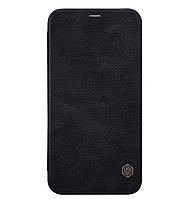 Кожаный чехол-книжка Nillkin Qin Series на iPhone X / 10 Black