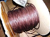 Шнур вощеный Коричневый 1мм*5м, фото 1