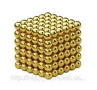 Неокуб 5 мм золото, NeoCube, конструктор магнитные шарики