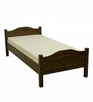 Ліжко односпальне в спальню та дитячу з натурального дерева Л-108 Скіф, фото 1