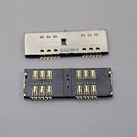 Разъем, коннектор SIM карты Lenovo A316,A269,P780