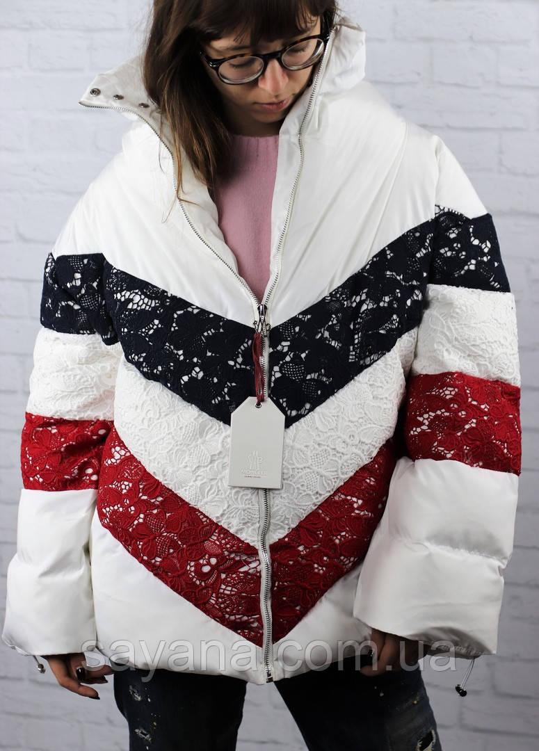 Женская куртка с декором в расцветках. БР-1-1118