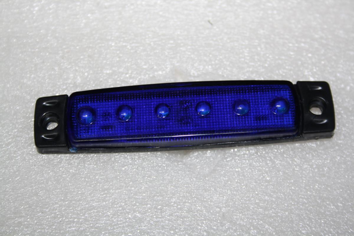 Габаритный фонарь 6-ти диодный синий 0175