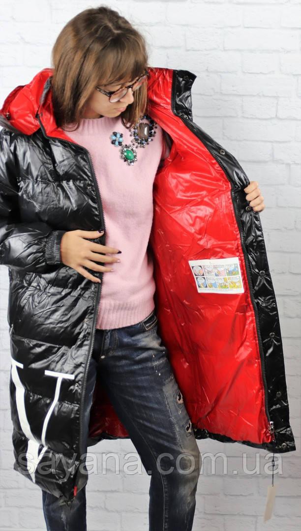 Женская куртка-пальто с капюшоном и сублимацией. БР-2-1118