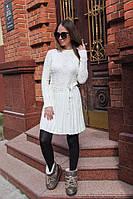 Вязаное платье с юбкой со складками, фото 1