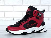 Зимние кроссовки мужские Nike M2K Tekno реплика ААА+ размер 41-45 красный (живые фото)