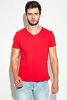 Футболка мужская с V-образным вырезом 4711-3 (Красный)