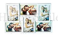 Большая фоторамка на 6 фотографий, белая / подарок любимому