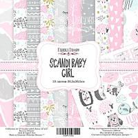 Набор скрапбумаги Scandi Baby Girl, 30,5x30,5см, Фабрика Декору