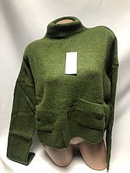Красивый свитер с удобными карманами  44-48