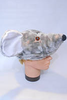 Шапочка Мышка для детей, шапка для костюма Крысы, Мыши, Мышонка