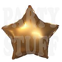 Фольгированный шарик Звезда бронза сатин, 44*47 см