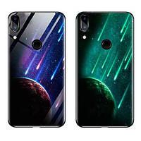 TPU+Glass чехол светящийся в темноте для Huawei P Smart+ (nova 3i) Метеорит / Синий