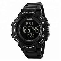Skmei 1180 pulse  черные мужские спортивные  часы с пульсометром