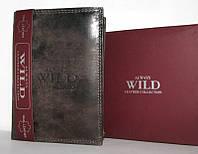 Мужской черный кошелёк из натуральной кожи Always Wild