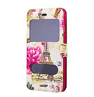 Чехол-книжка Flower Case 2 Windows Style для Samsung Galaxy J2 SM-J200 Paris White